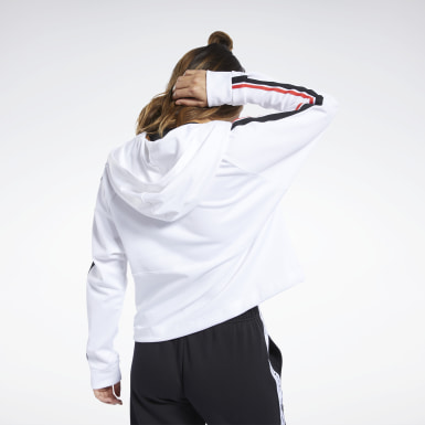Women Yoga White Workout Ready Jacket