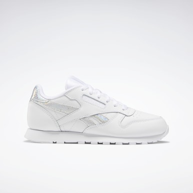 Girls Classics White Classic Leather Shoes - Grade School