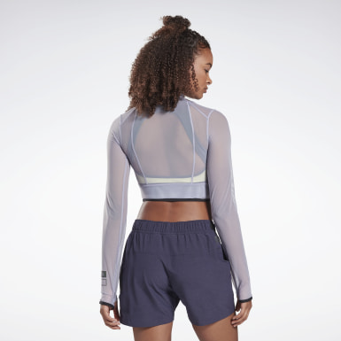 Women Trail Running Night Run Crop Top
