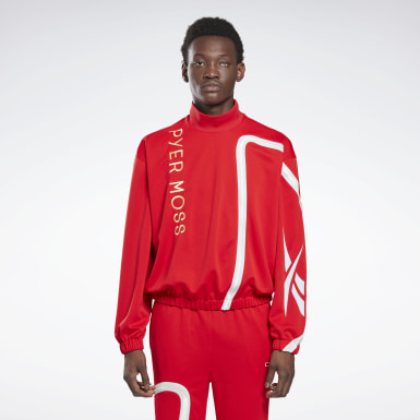 Classics Red Reebok by Pyer Moss Mock Neck Track Shirt