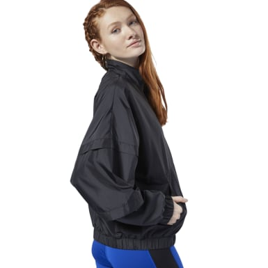 Women Fitness & Training Black Meet You There Woven Jacket