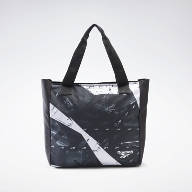 Women Training Black Essentials Graphic Tote Bag
