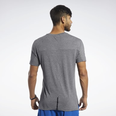 Men Fitness & Training Black ACTIVCHILL+COTTON Tee