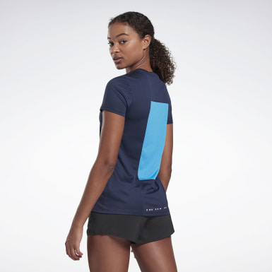 Women Terrengløping Blue Running Essentials Shirt