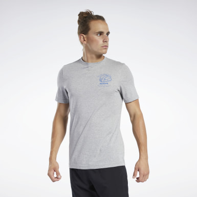 Men Fitness & Training Grey Graphic Series Panda Crew Tee