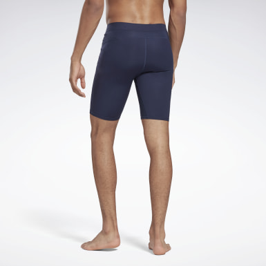 Men HIIT Blue United by Fitness Compression Shorts