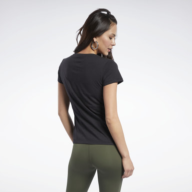 Women Fitness & Training Black Reebok Training Tee
