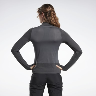 Women Running Black Running Essentials Quarter Zip