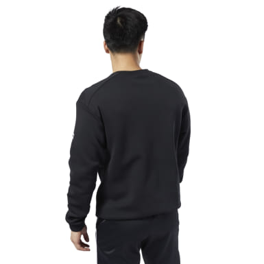Men Classics Black Classics Advance Crew Sweatshirt