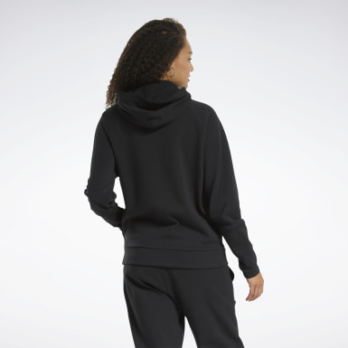 Sweat à capuche zippée Quik Cotton Noir Femmes City Outdoor