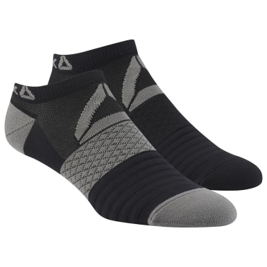 Men Training Black Reebok Performance Low Cut Socks - 2 Pack