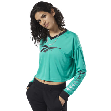 Women Classics Green Classics Vector Crop Top