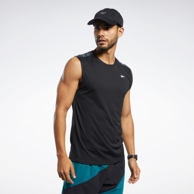 Men Trail Running Black Workout Ready Tech Tee