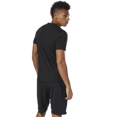Men Fitness & Training Black Reebok Linear Read Tee