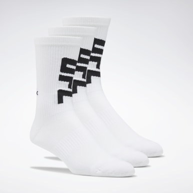 UFC White UFC Crew Socks Three Pack