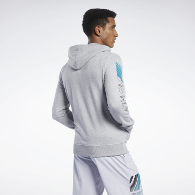 Men Cross Training Grey Reebok CrossFit® Full-Zip Hoodie
