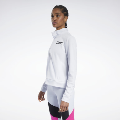 Women Fitness & Training White Track Jacket
