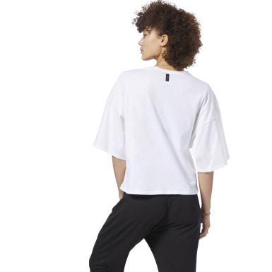 Women Lifestyle White Training Supply Pocket Tee
