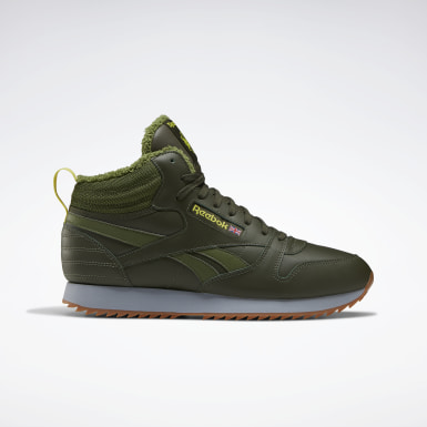 зеленый Кроссовки Reebok Classic Leather Mid Ripple