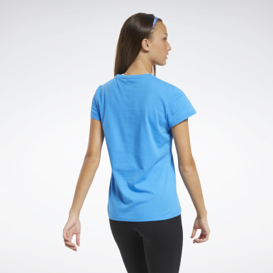 Dames Fitness & Training Blauw Training Essentials Graphic T-shirt