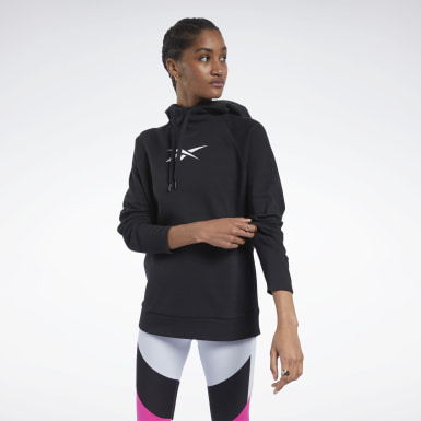 Sweat à capuche Vector Quik Cotton Noir Femmes Outdoor