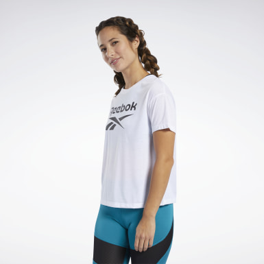 T-shirt Workout Ready Supremium Logo Bianco Donna Fitness & Training