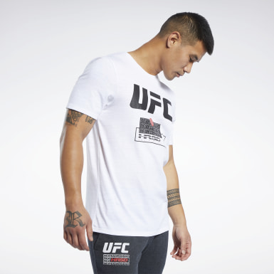 Männer Fitness & Training UFC FG Fight Week T-Shirt Weiß
