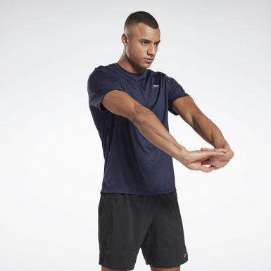 Men Terrengløping Blue Running Essentials Shirt