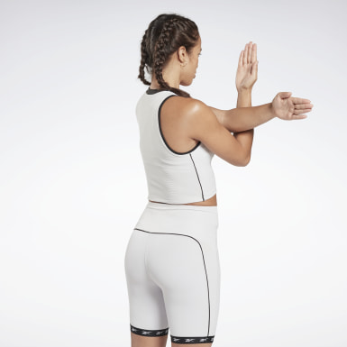 Kvinder Studio White Studio Performance High-Intensity Tank Top