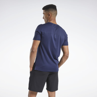 Mænd HIIT Blue ACTIVCHILL Graphic Move Tee