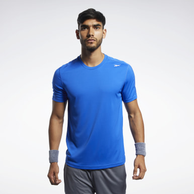 Remera Workout Ready Polyester Tech Azul Hombre Entrenamiento Funcional