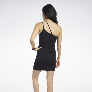 CL F STRAPPY DRESS Negro Mujer Classics