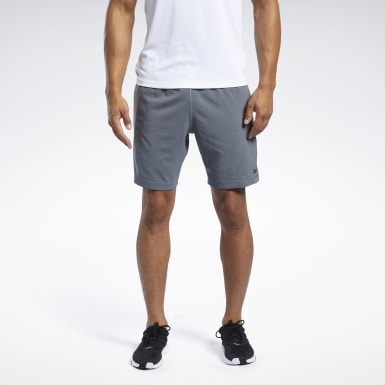 Men HIIT Grey Workout Ready Shorts