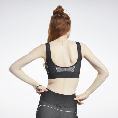 Frauen Yoga Meet You There Low-Impact Bra Schwarz