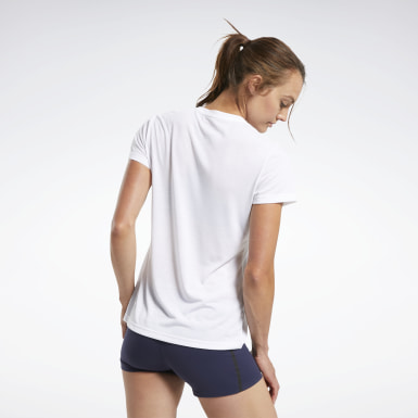 Camiseta Reebok CrossFit® Read Graphic Blanco Mujer Cross Training