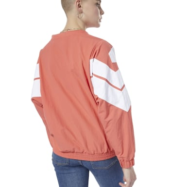 Women Classics Orange Classics Vector Crew Sweatshirt