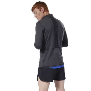 Men Running Black Run Essentials Quarter Zip