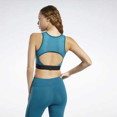 Crop Top Perforated Mujer Ciclismo