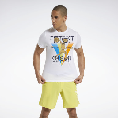 RC Fittest On Earth Tee Bianco Uomo Cross Training