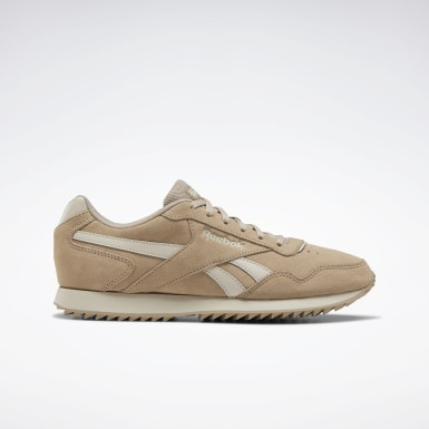 Women Classics Beige Reebok Royal Glide Ripple Shoes
