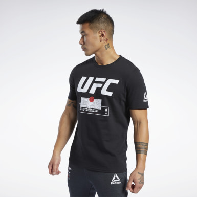 Männer Fitness & Training UFC FG Fight Week T-Shirt Schwarz