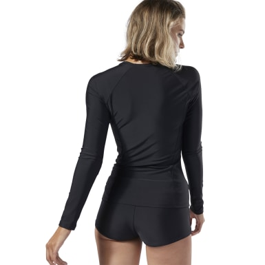 Women Training Black Rash Guard