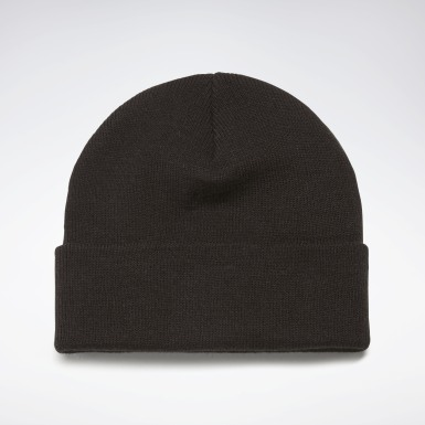 Cross Training Black Foundation Logo Beanie