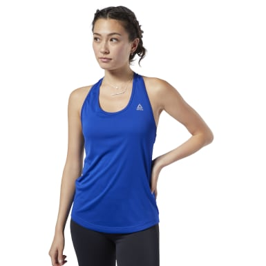 Women Training Blue US PERFORM MESH TANK