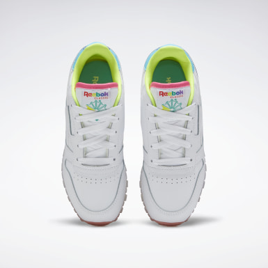 Girls Classics White Classic Leather Shoes - Preschool