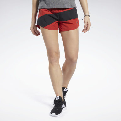 Women Studio Red Workout Ready Shorts