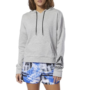 Women Fitness & Training Grey WOR Delta Hoodie