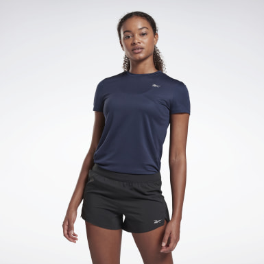 Women Hiking Blue Running Essentials Shirt