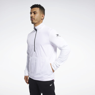 Men Training White Speedwick Quarter-Zip Top