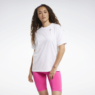 Women Fitness & Training White MYT Stitch Oversize Tee